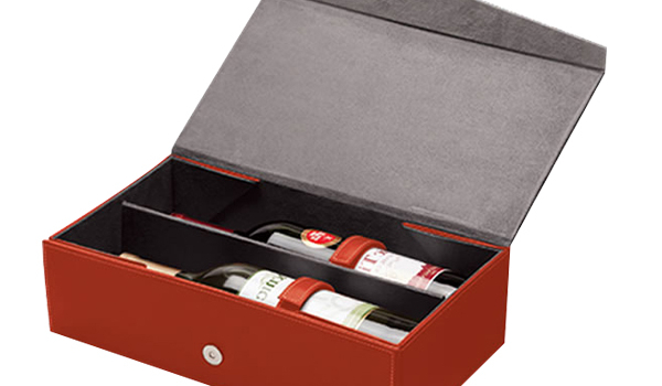 Foldable Leather wine Box