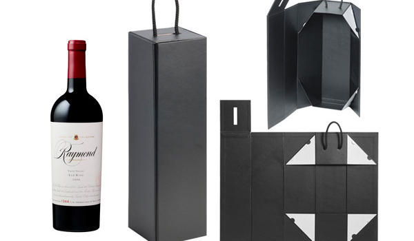 Foldable Wine Box with Rope