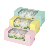 Cup Cake Box with Display Window and Insert CBB-105